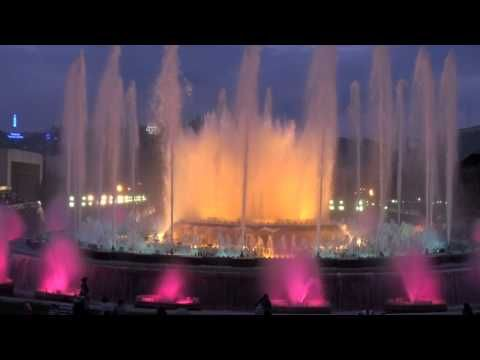 1978 La Fuente Mágica de Montjuic, Barcelona - Fuentes luminosas de Montjuic - YouTube