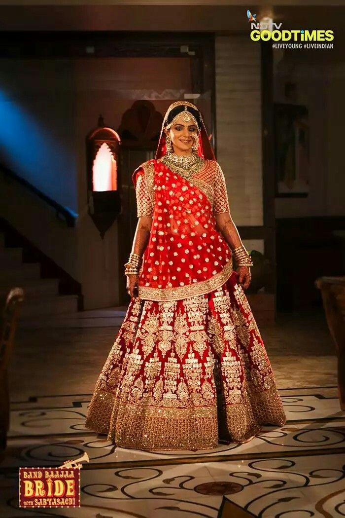 Sabyasachi's hot fav creation the Red Chandelier Lehenga