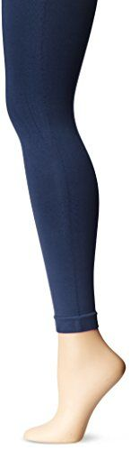 Nine West Women's Basic Control Top Seamless Legging, Navy, Medium/Large. Basic legging. Easy to wear.