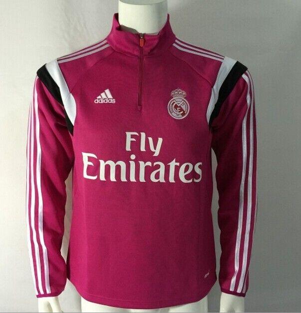 Sudadera Real Madrid con cremallera 2014/2015 -- Rose - €35.00 :