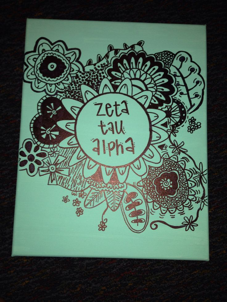 Zeta tau alpha sorority craft canvas