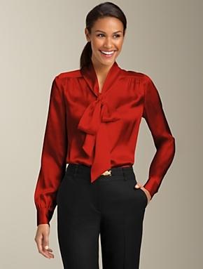 opaque secretary blouse