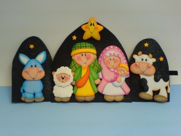 pesebre goma eva | Celebraciones: Navidad | Pinterest