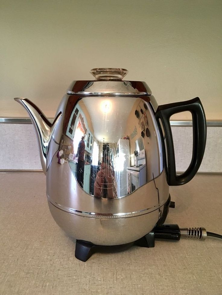 Vintage GE General Electric 18P40 9-Cup Pot Belly Electric Coffee Percolator   | eBay