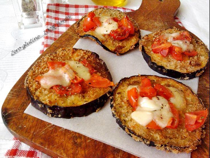 Pizzette di melanzane (croccanti e gustose,fritte e infornate) | zero glutine...100% Bontà