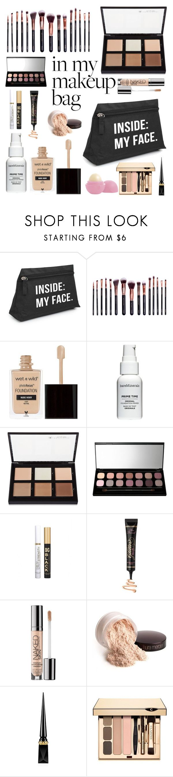 """""""Makeup Bag"""" by marie-alterego ❤ liked on Polyvore featuring beauty, M.O.T.D Cosmetics, Wet n Wild, Bare Escentuals, Anastasia Beverly Hills, Napoleon Perdis, Too Faced Cosmetics, Urban Decay, Laura Mercier and Christian Louboutin"""