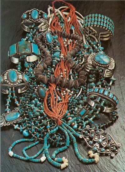 Old Pawn Navajo & Zuni Turquoise Jewelry