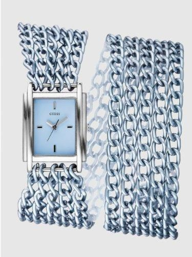Women's #Fashion #Watches Guess Womens Silver Dial Stainless Steel Case Multi Chain Link Bracelet #Watch