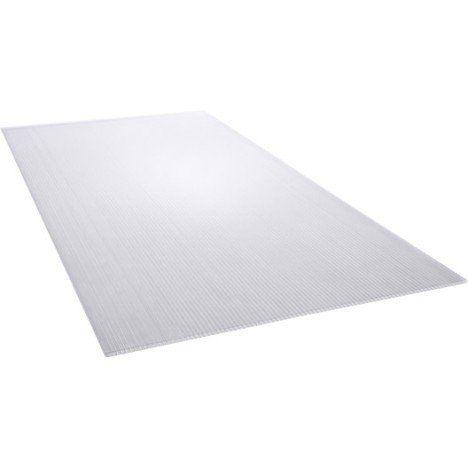 plaque polycarbonate alvolaire clair lisse l50 x l98 cm x ep leroymerlinfr - Plaque Polycarbonate Translucide Leroy Merlin