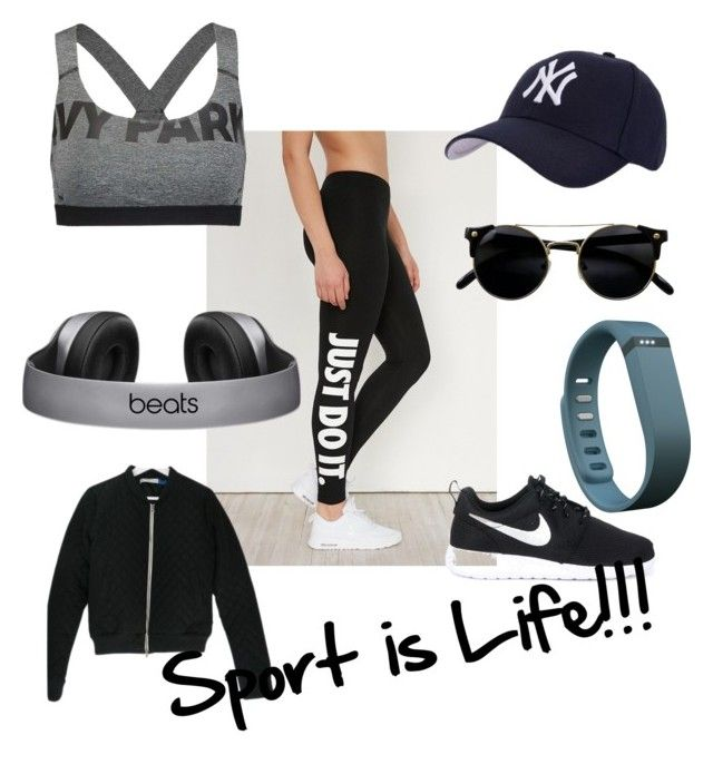"""""""#sportislife!"""" by antonella-ienna on Polyvore featuring moda, NIKE, Ivy Park, adidas, Hartford e Fitbit"""
