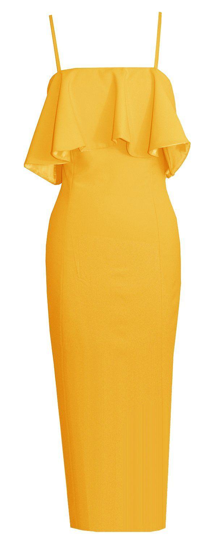 Emmarie All Colors In 2021 Cocktail Dress Yellow Wedding Guest Dress Summer Marigold Dress [ 1500 x 611 Pixel ]