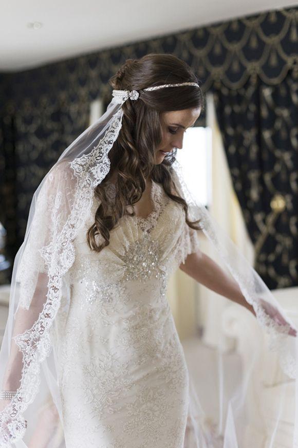gorgeous dress, veil/headpiece via lovemydress <3 it