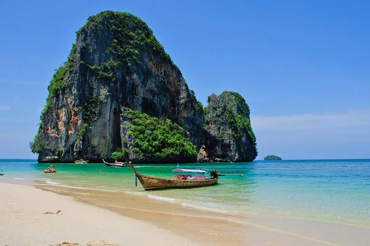 Where to go on holiday in February   http://www.weather2travel.com/holidays/where-to-go-on-holiday-in-february-for-the-best-hot-and-sunny-weather.php   Phra Nang Beach, Thailand © Mark Fischer - Flickr Creative Commons