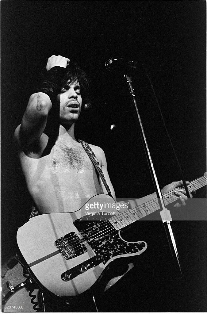 Prince performs on stage at Paradiso, Amsterdam, Netherlands, 29th May 1981.