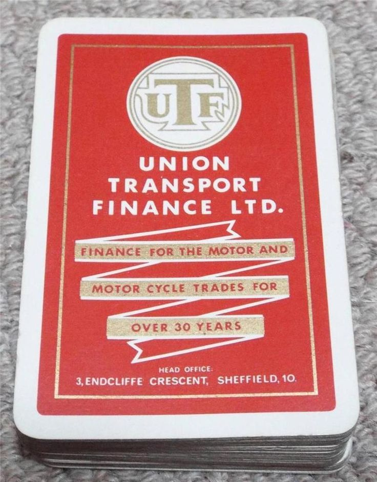 UNION TRANSPORT FINANCE - VINTAGE 1950's PACK OF PLAYING CARDS - RED