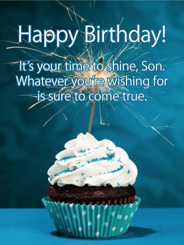 Best 78 birthday cards for son ideas on pinterest time to shine happy birthday card for son got a sweet son celebrating a birthday this festive birthday card is the perfect pick to make him smile m4hsunfo