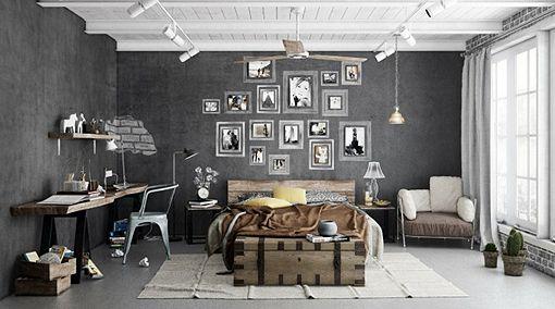 Consigue un dormitorio personalizado en vintage industrial | Decorar tu casa es facilisimo.com