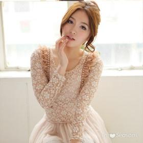 TS Ruffles Long Sleeves Lace Dress   9.99 USD   Whole Sale