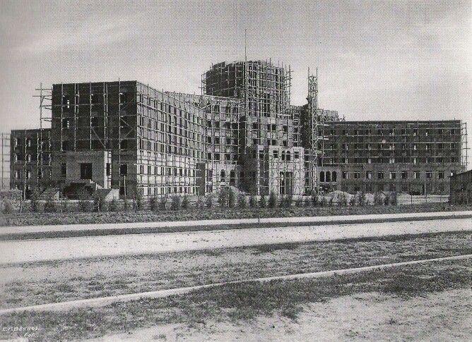 Hospital Civil en construccion, 1935.