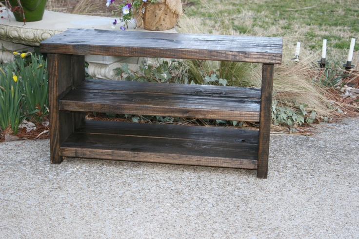 Rustic Wood Shoe Storage Shoe Storage Shoe Bench Entry Shoe Rack Shoe Holders Shoe