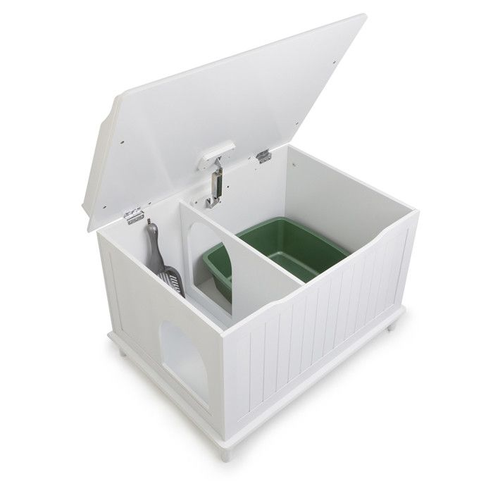Ace Litter Box Enclosure in White - perfect for hiding the litter box in my office! want.