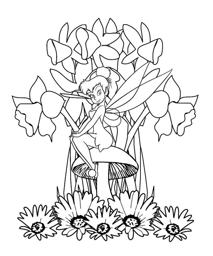 tinkerbell head coloring pages - photo#12