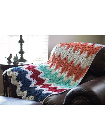 Basket Weave Chevron Afghan crochet pattern   #Promotion… #PaidAd #ad #affiliatelink