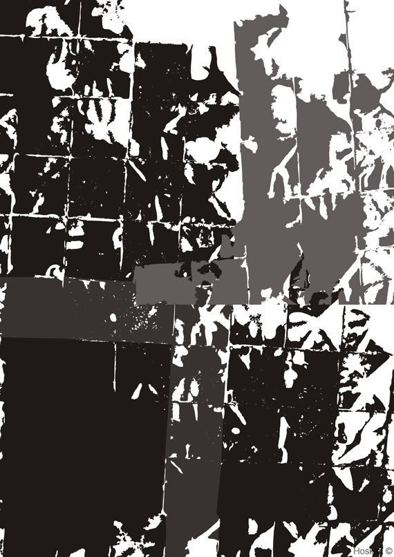 Gridded squares2, White and Black, Structural Graphics, Instant download, Wall art, Decorative graphic,Home decor by Hoskari on Etsy