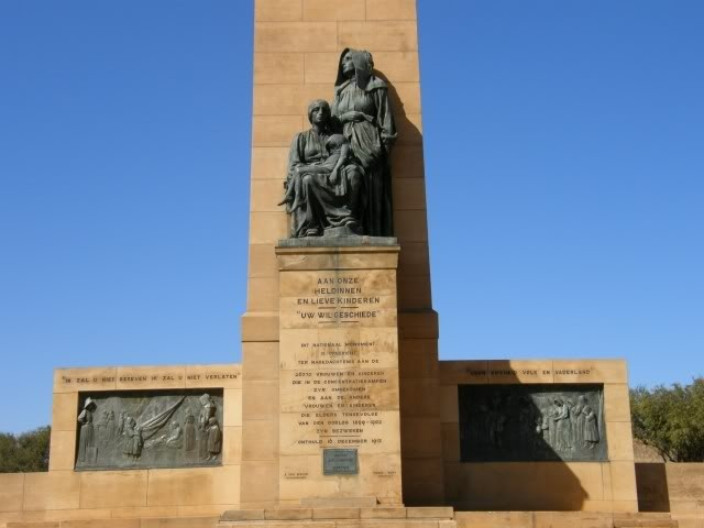 Monument at Bethulie concentration camp
