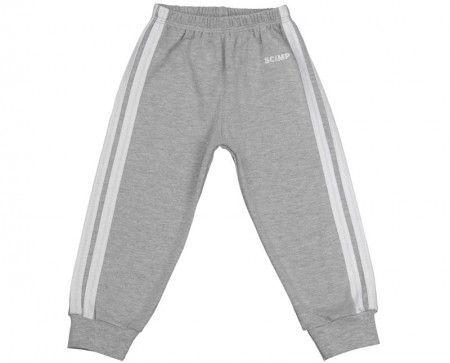 Pantalonaşi cu elastic în talie gri-alb 100% bumbac | Cod produs: NIG041