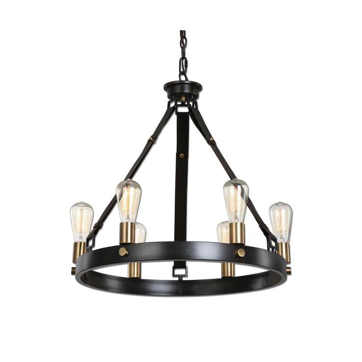 Uttermost Marlowe Industrial Style Chandelier    Montreal Lighting & Hardware