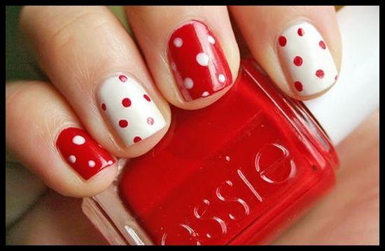 Rojo/blanco con lunares