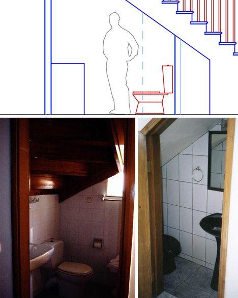Under stair bathroom plan home pinterest toilets for Under stair bathroom design