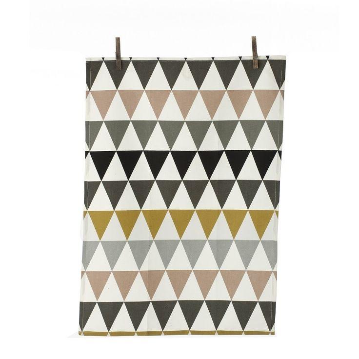 Ferm LIVING Triangle Tea Towel, Multicoloured