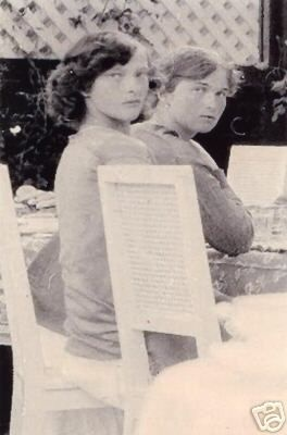 Grand Duchesses Olga and Tatiana. The two oldest children of Tsar Nicholas of Russia and Alexandra Feodorovna
