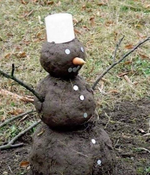 Now this is my kind of snow man - as close to a snow man I'd like to get! :)