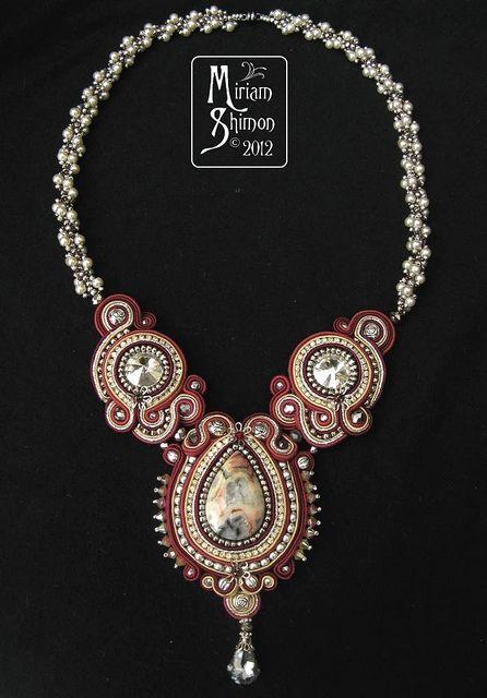 Mangolia Soutache necklace   Flickr - Photo Sharing!