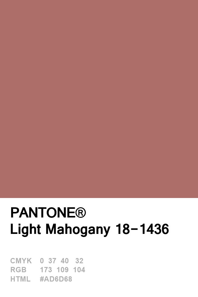 Pantone Light Mahogany 18-1436 Colour of The Day 20 January