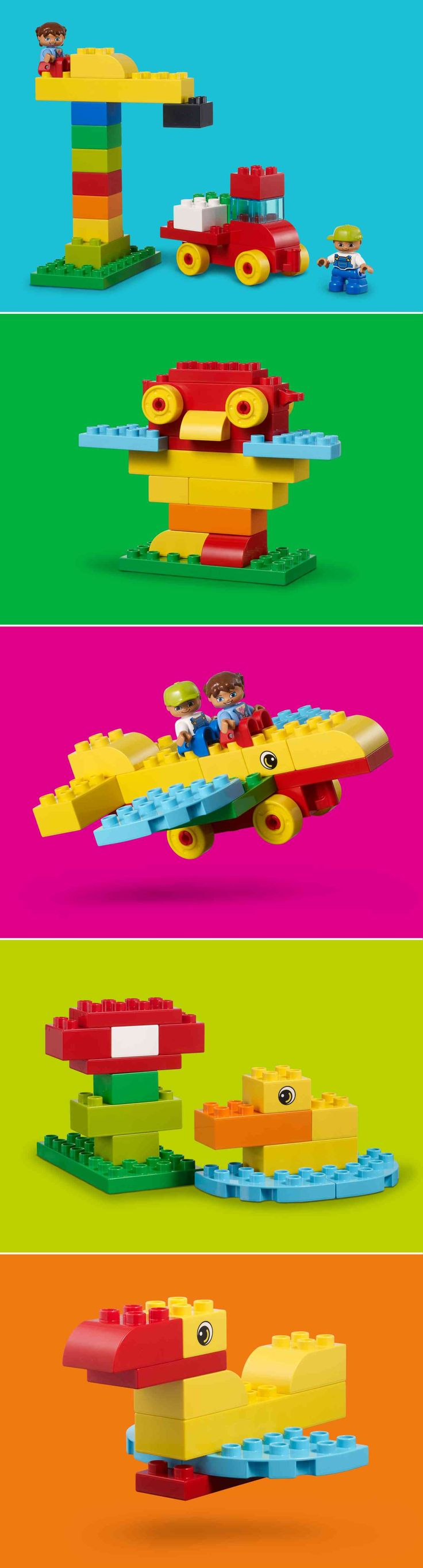 Whether you have a few minutes or a few hours to play, we've got five easy builds that you and your toddler can have fun making! :-)  http://www.lego.com/da-dk/family/articles/easy-builds-with-lego-duplo-156129ff337342039c68152e3208e417
