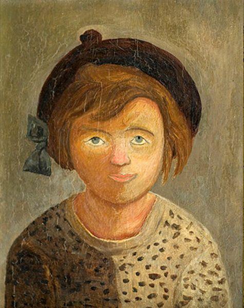Tadeusz Makowski (Polish 1882 – 1932) | Girl In A Beret