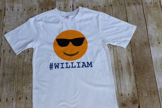 Emoji shirt Boys Cool Dude Emoji shirt  by DazzlingInGrace on Etsy