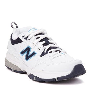 Take a look at this White & Navy 609 Athletic Shoe - Women by New Balance Women & Men on @zulily today!