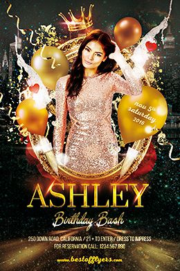 Birthday Bash PSD Flyer Template