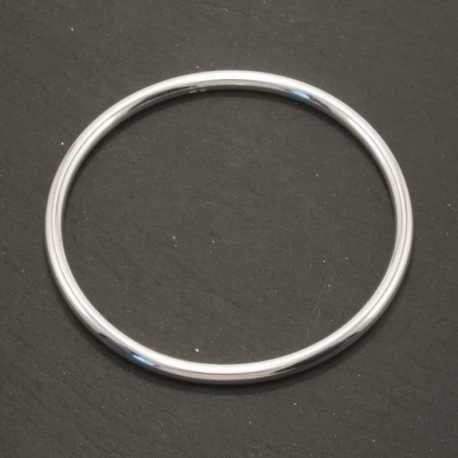 Bracelet jonc épais en argent 925 de 4 mm en vente dans la boutique en ligne l'Atelier 4 You, création de bijoux femme en argent 925.