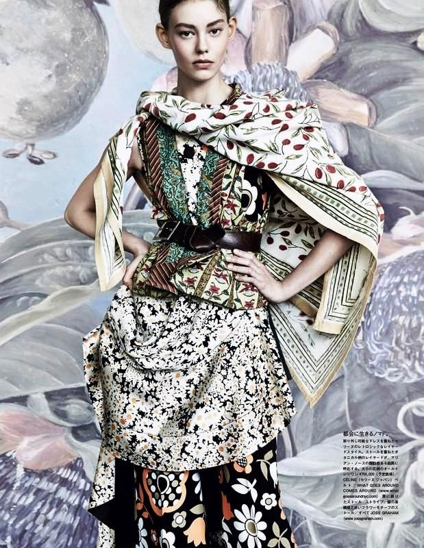 The Flowers Of Romance: #OndriaHardin by #PatrickDemarchelier for #VogueJapan March 2015