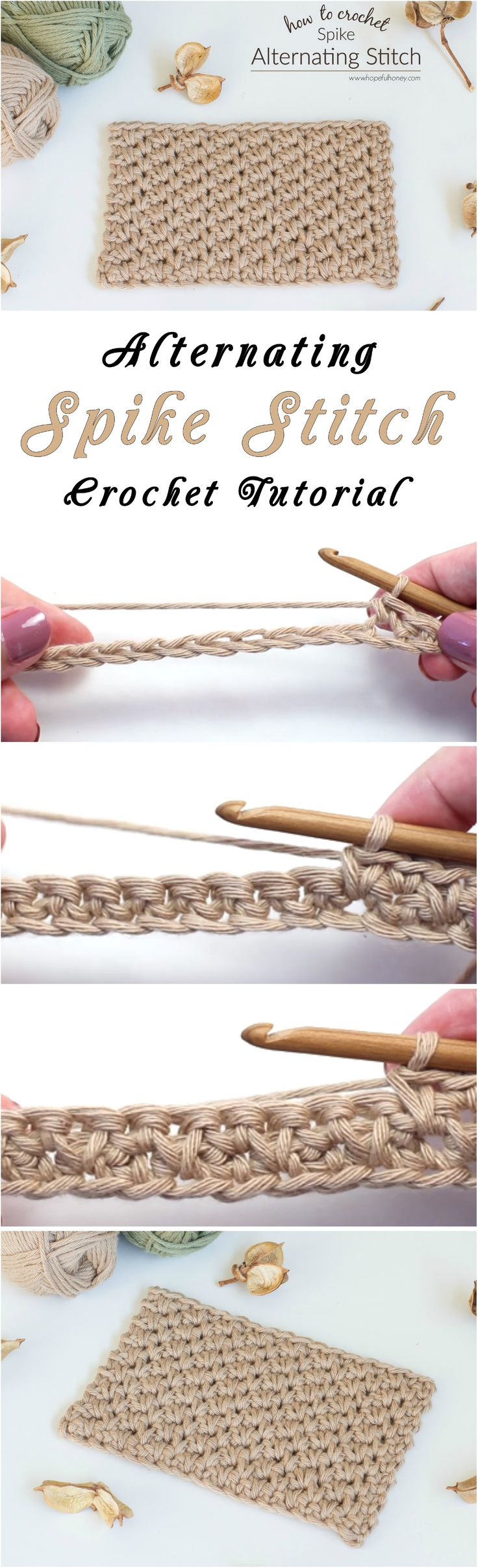 Alternating Spike Stitch Crochet Tutorial – Yarn & Hooks