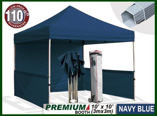 Eurmax Premium Ez up Canopy Booth Bonus Awning and 4weight Bag(10x10 Feet, Navy) by Eurmax. $449.95. Eurmax premium Canopy booth Includes:Canopy Top, Canopy Frame,back wall,Two(2)1/2walls, Rail bar,Awning,Four(4)Weight bag,Roller Bag.Four(4)Stakes.No loose parts; no tools required.. Wall Side Kit :300 Denier Polyester,Water Resistant,100% UV Protection.wall package includes:One(1)Solid walls + Two(2)1/2walls +Four(4)Weight bag. Canopy top:600 Denier Polyester,Water Resistan...