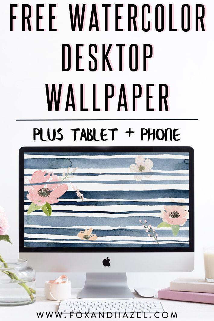 Free Spring Watercolor Desktop Wallpaper Fox Hazel Watercolor Desktop Wallpaper Spring Desktop Wallpaper Tablet Wallpaper