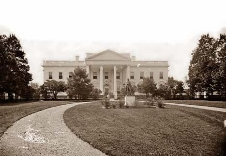 First Picture of the White House, 1865.