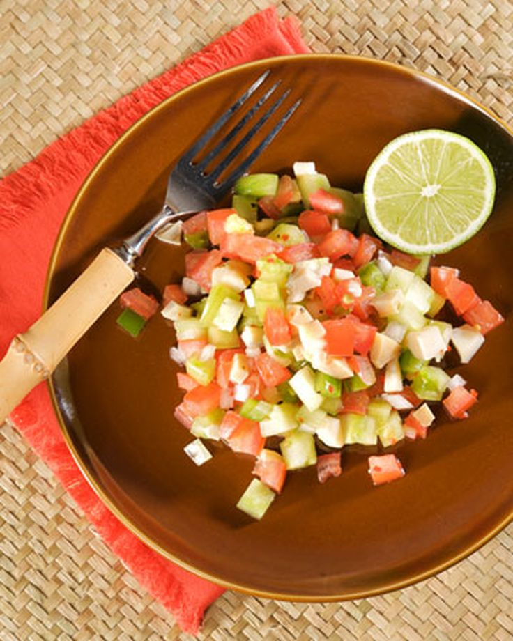 This delicious conch salad recipe is courtesy of Richie Evans from Goldie's King of Conchs.